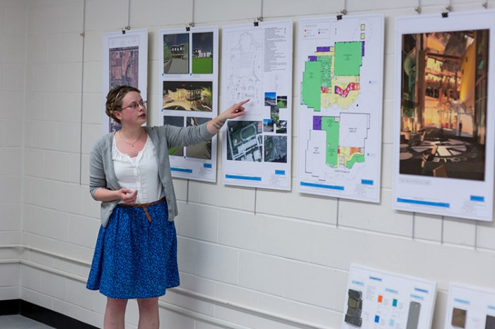Architectural Technology student Tara Donaldson presents her final third-year architectural project.