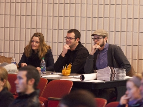 (L to R) Judges Tess Girard, Adam Gray and Ryan Noth.