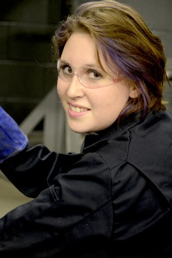 """I took an ornamental iron design class on a whim in high school, and I fell in love. You don't have to be an industrial welder. My goal is to have my own shop and sell my art.""   Hailey Megraw, Welding & Fabrication Technician student"