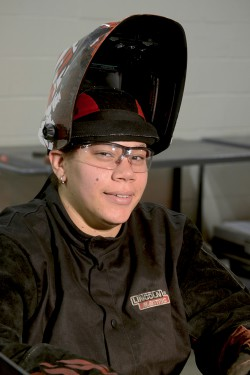 """This is a pretty good profession. It's awesome what you can do. You fix things to help people, to make them safe."" - Natalie Stallaert, Welding & Fabrication Technician student"