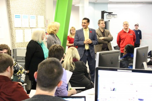 Minister of sport Bal Gosal visits Loyalist College.