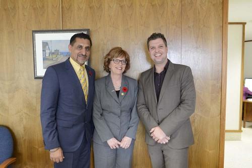Minister Bal Gosal_President Maureen Piercy and Robert Lynch(R)