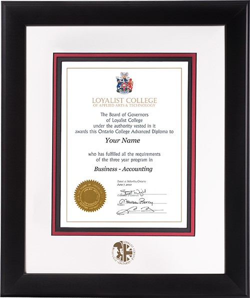Diploma Frames Loyalist College