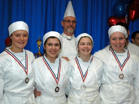 Bronze medal winners from Ernestown. Sabrinna French, Logan Lockridge, Sydney Walker and Jenn Halligan.