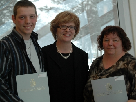 Logan Aulthouse, a first-year General Arts and Science student was the recipient of the Rotary Club of Picton Bursary. Logan is shown in the photo with Loyalist President, Maureen Piercy (centre) and his mother, Peggy Reynolds. Peggy is a second-year student in the Child and youth Worker program and was the recipient of a First Generation Bursary.