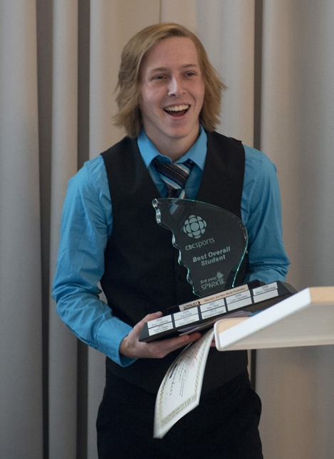 The CBC Sports Best Overall Third-Year Student went to Corey Saunders.