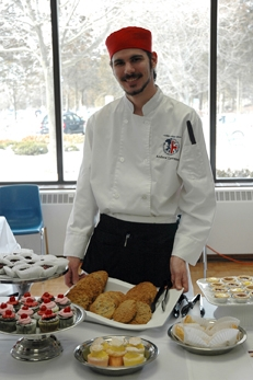 Loyalist students showcased their tasty treats at one of the Food and Beverage Show booths.